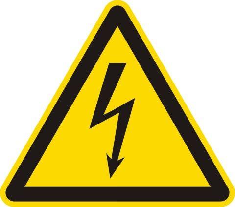 1500 Warnung vor elektrischer Spannung