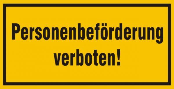 1008/1 Personenbeförderung verboten
