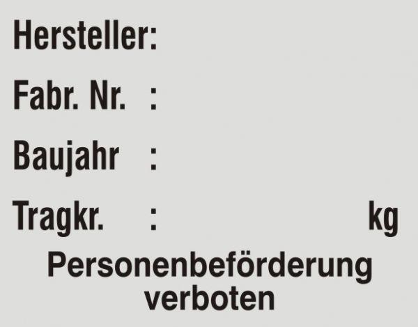 1005/3 Aufzug Verbot Personenbeförderung
