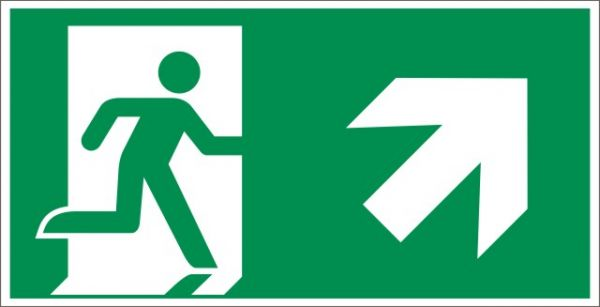4022 Rettungsweg rechts aufwärts