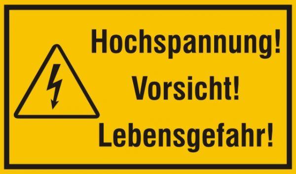 1511 Hochspannung vorsicht