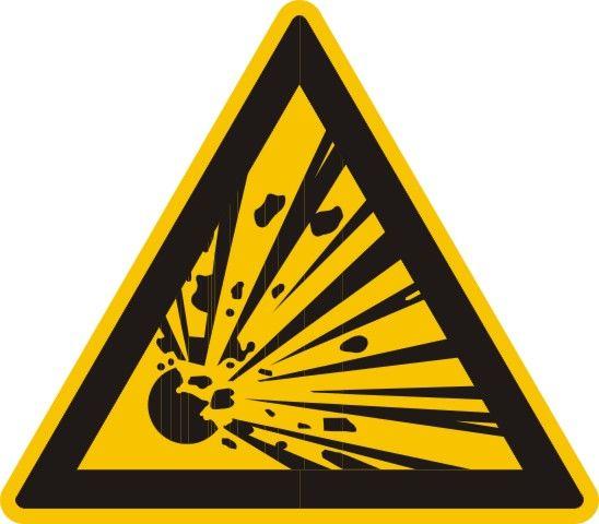 4302 Warnung vor explosionsgefährlichen Stoffen