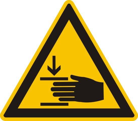 4314 Warnung vor Handverletzungen