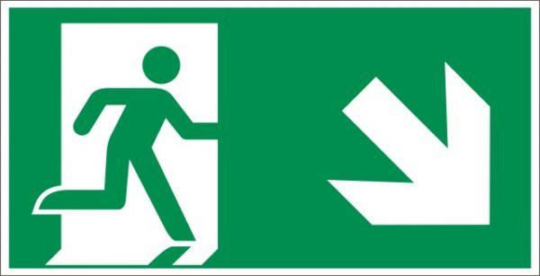 4024 Rettungsweg rechts abwärts