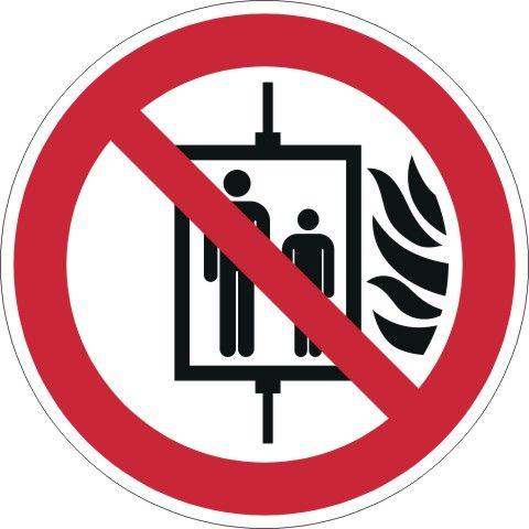 1024 Symbol Aufzug im Brandfall
