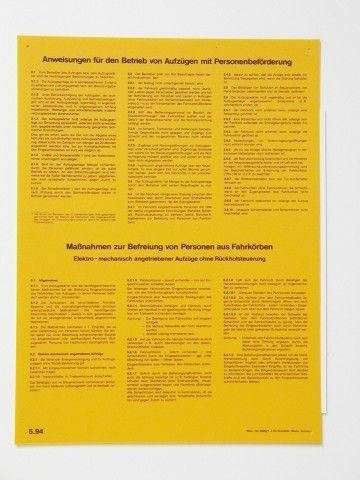 1003/1 Aufzüge elektro-mechanisch ohne Rückholsteuerung