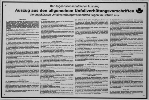1542 Unfallverhütungsvorschriften