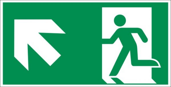 4023 Rettungsweg links aufwärts