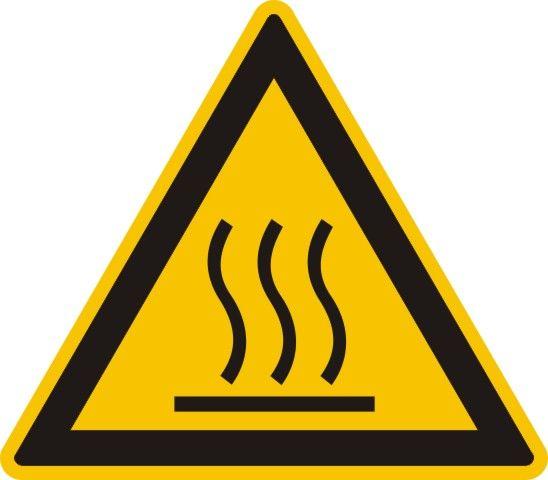 4313 Warnung vor heißer Oberfläche