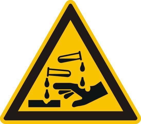 4304 Warnung vor ätzenden Stoffen