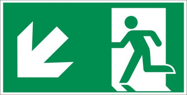 4025 Rettungsweg links abwärts