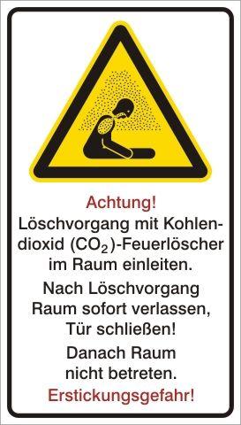 1360 CO2 Löscher Erstickungsgefahr