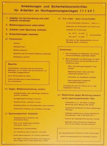 1541/1 Anweisungen f. Hochspannungsanlagen