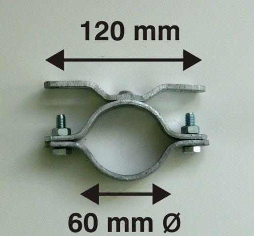 0410 Rohrschelle 60 Ø/ 120mm